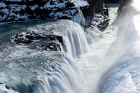 Gullfoss waterfall in the Winter