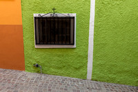 contrasting house colors in Mexico